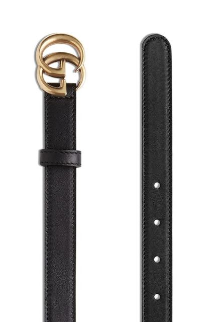 Gucci Leather belt with double G buckle Preview Images