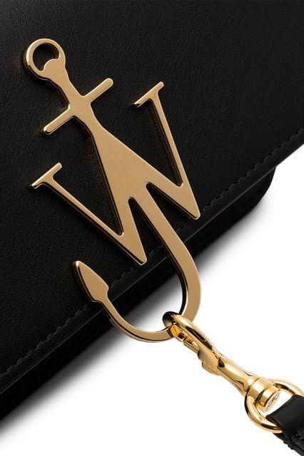 JW Anderson Black & Gold Anchor Logo Bag 2 Preview Images