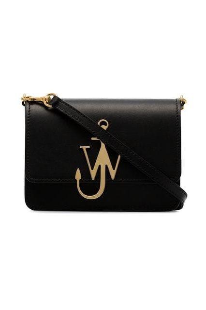 JW Anderson Black & Gold Anchor Logo Bag 3 Preview Images