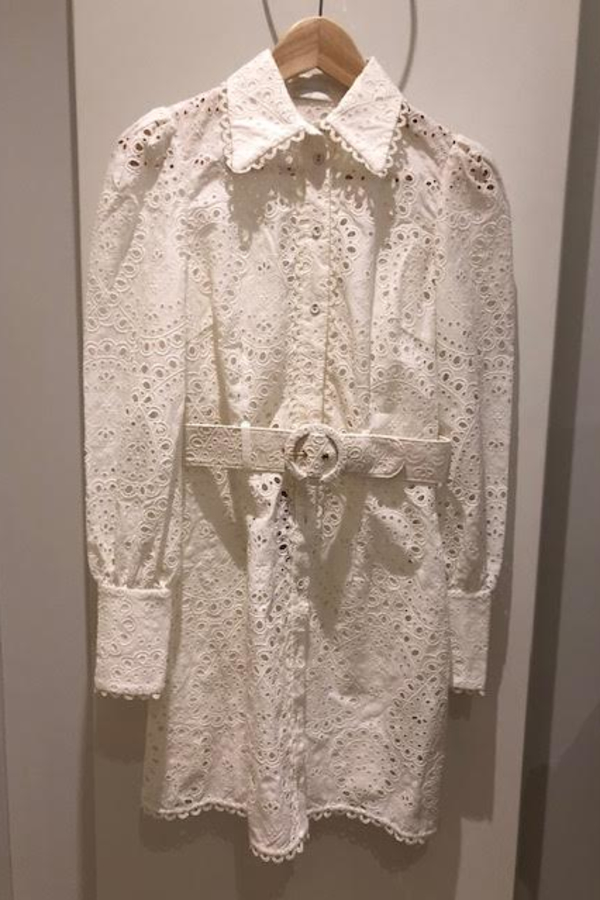 Zimmermann Belted broderie anglaise mini 2