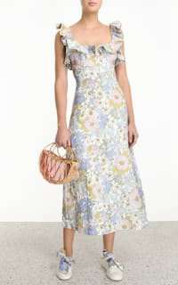 Zimmermann Meadow Ruffle Linen Dress 2 Preview Images