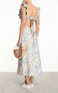 Zimmermann Meadow Ruffle Linen Dress 4 Preview Images