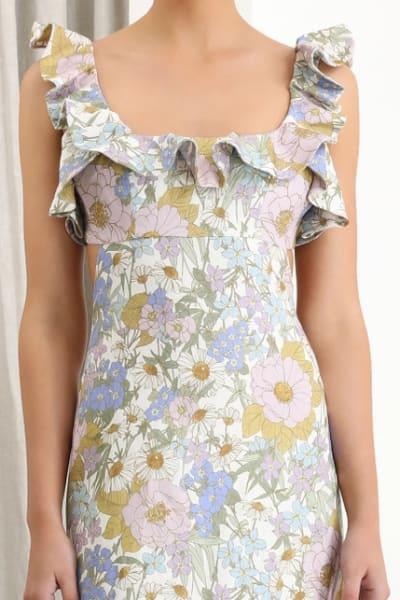 Zimmermann Meadow Ruffle Linen Dress 5