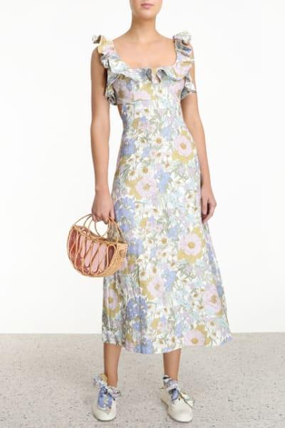 Zimmermann Meadow Ruffle Linen Dress 2