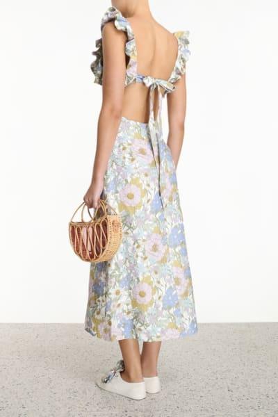 Zimmermann Meadow Ruffle Linen Dress 4