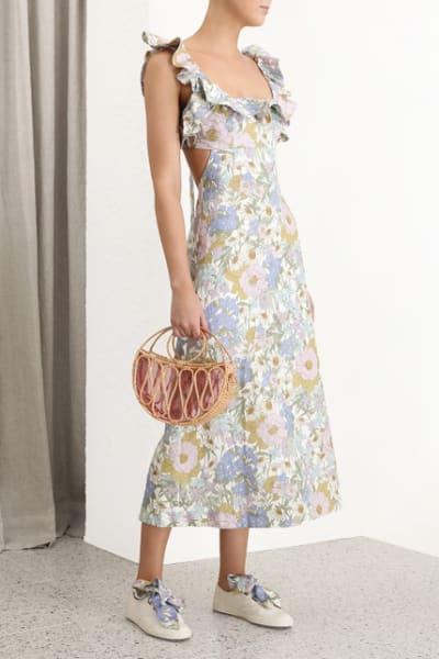 Zimmermann Meadow Ruffle Linen Dress 3