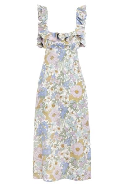 Zimmermann Meadow Ruffle Linen Dress