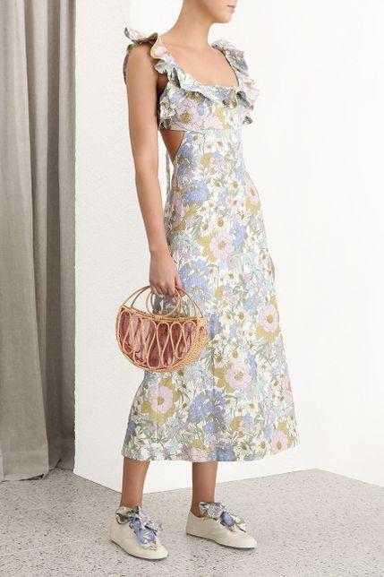 Zimmermann Meadow Ruffle Linen Dress 3 Preview Images