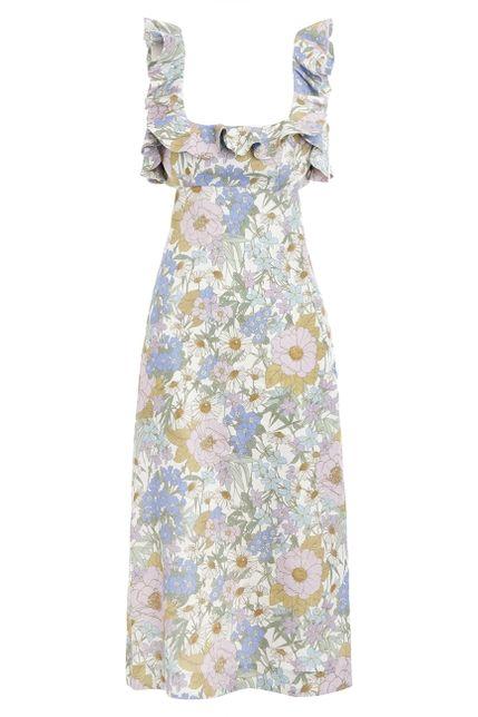 Zimmermann Meadow Ruffle Linen Dress Preview Images