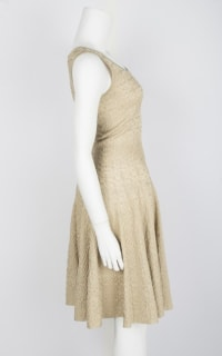 Alaïa Gold Gold-Tone Mini Dress Preview Images
