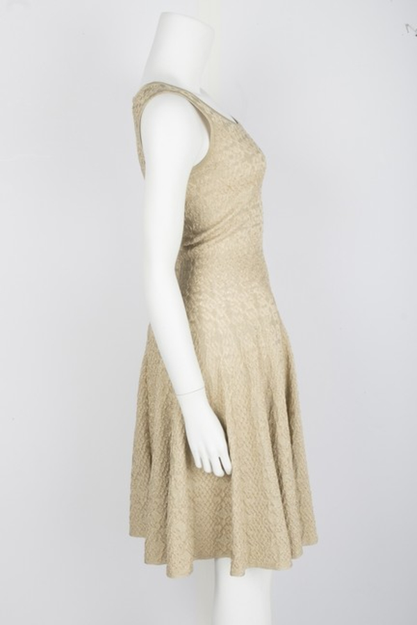 Alaïa Gold Gold-Tone Mini Dress