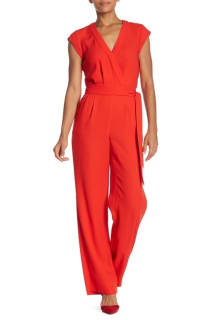 Diane Von Furstenberg Red Purdy Jumpsuit Preview Images