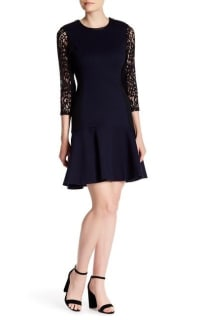 Rebecca Taylor Long Sleeve Ponte Dress Preview Images