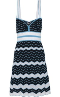 Missoni Pleated crochet-knit cotton-blend dress Preview Images
