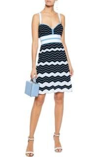 Missoni Pleated crochet-knit cotton-blend dress 2 Preview Images