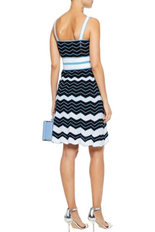 Missoni Pleated crochet-knit cotton-blend dress 3