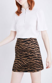 Claudie Pierlot Tiger Mini Skirt 2 Preview Images