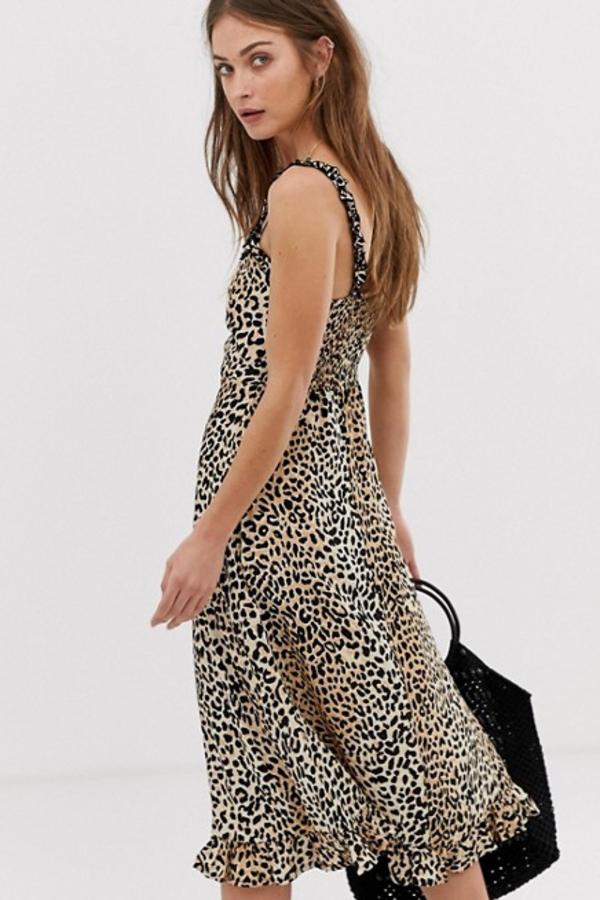 Faithfull The Brand Noemie leopard print midi 3