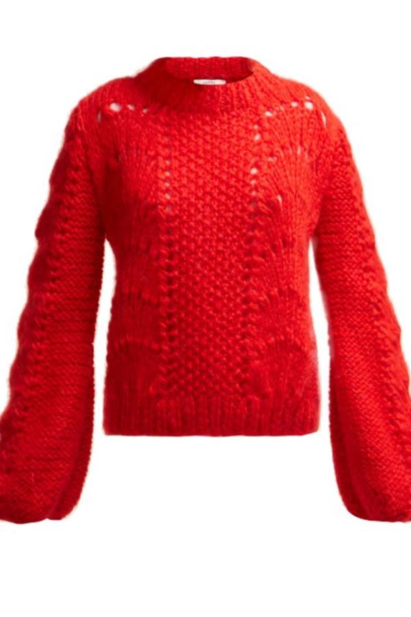 Ganni Julliard Mohair knit jumper