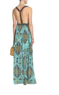 Matthew Williamson Open-back embellished printed silk-chiffon maxi dress 3 Preview Images