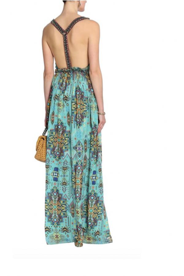 Matthew Williamson Open-back embellished printed silk-chiffon maxi dress 3