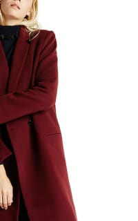 Claudie Pierlot Aubergine coat Preview Images