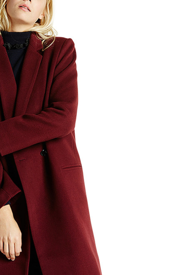 Claudie Pierlot Aubergine coat