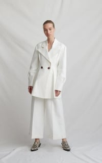Rejina Pyo Maja ivory coat 3 Preview Images