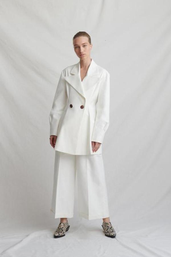 Rejina Pyo Maja ivory coat 3