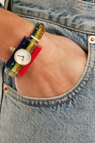 Gucci Striped Plexiglas watch 2