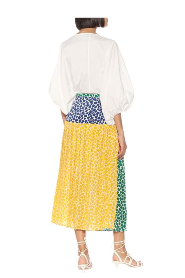 RIXO London Tina silk printed midi skirt  2