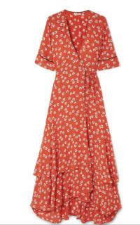 Ganni Floral-Print wrap maxi dress 3 Preview Images