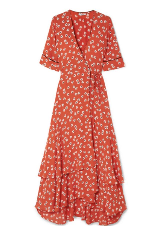 Ganni Floral-Print wrap maxi dress 3