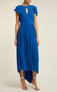 Preen by Thornton Bregazzi Milly Pleated Georgette Dress 2 Preview Images