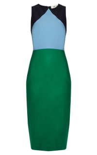 Diane Von Furstenberg Colour block midi dress Preview Images
