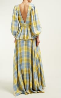 Staud Panarea checked linen maxi 2 Preview Images