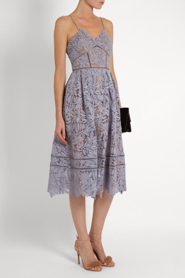 Self Portrait Lilac Midi Dress