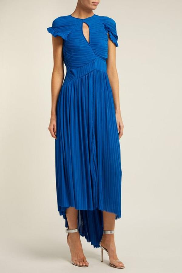 Preen by Thornton Bregazzi Milly Pleated Georgette Dress 2