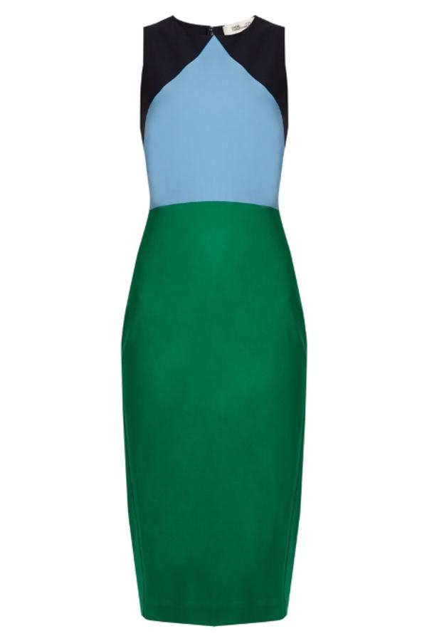 Diane Von Furstenberg Colour block midi dress