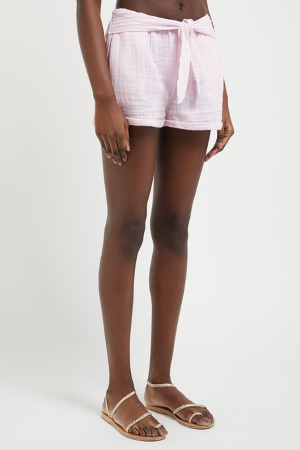 Anaak Maithili tie-waist cotton-muslin shorts