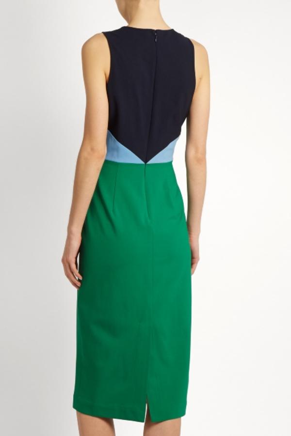 Diane Von Furstenberg Colour block midi dress 3