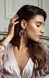 SORU Baroque Pearl Hoop Earrings 3 Preview Images