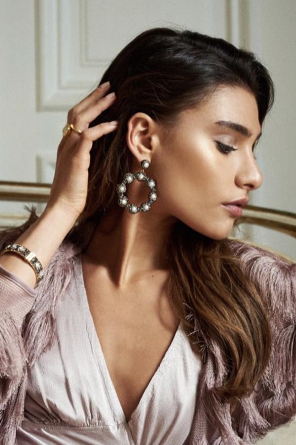 SORU Baroque Pearl Hoop Earrings 3