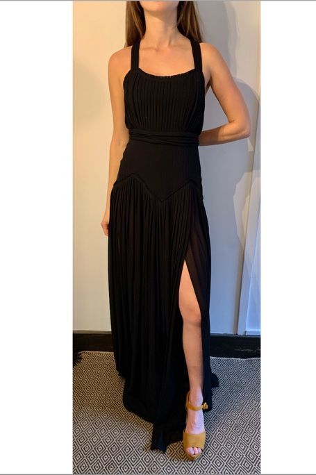 BURBERRY Floor length Silk Pleated Gown 5