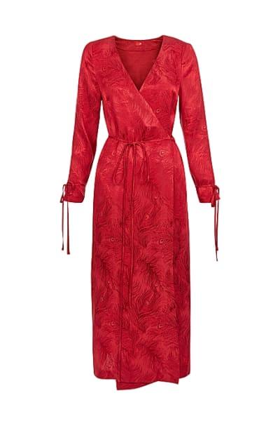 Kitri Odile Red Wrap Dress