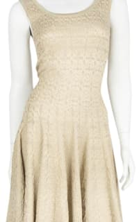 Alaïa Gold Gold-Tone Mini Dress 2 Preview Images