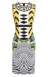 Clover Canyon Toucan Embellished Printed Neoprene Dress Preview Images