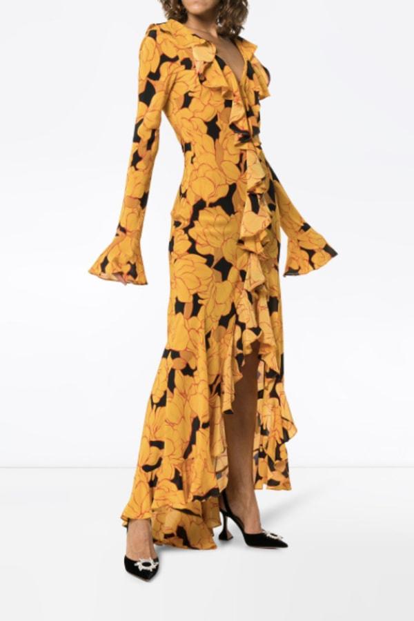 Image 2 of De La Vali floral ruffle dress