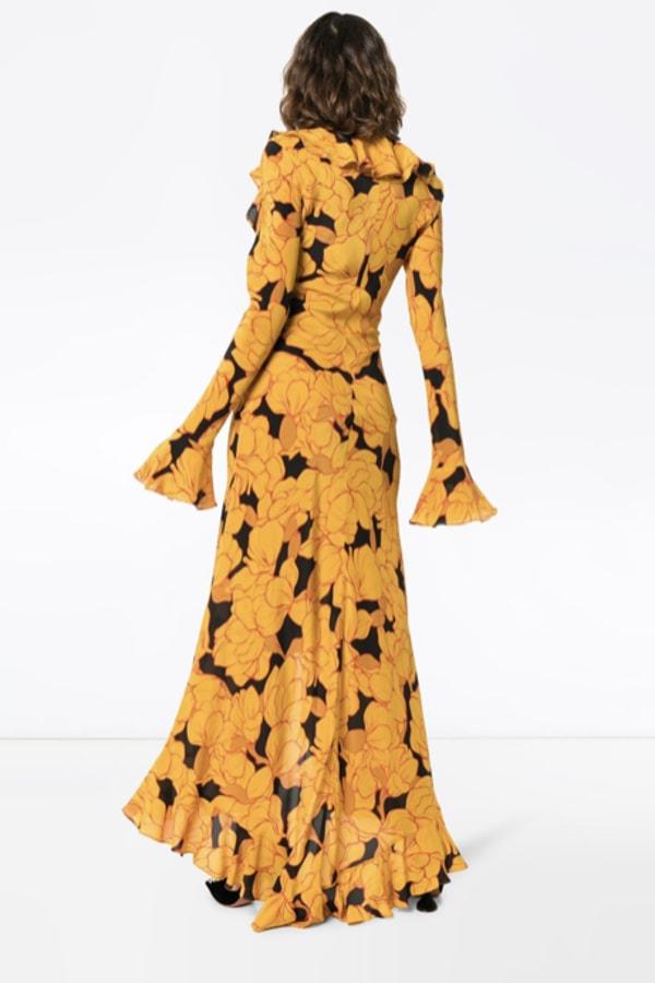 Image 3 of De La Vali floral ruffle dress