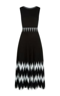 Maje Knitted Geometric Dress Preview Images